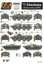 AK CHECHNYA WAR IN RUSSIAN TANKS AND AFVS
