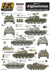 AK WAR IN AFGHANISTAN NORTHERN ALLIANCE TANKS AND AFVS