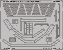 Eduard Merkava Mk.IV stowage basket (Academy)