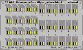 Eduard Remove Before Flight - yellow/black