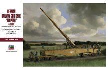 Hasegawa German Railway Gun K5(E) Leopold with Figure