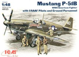 ICM P-51B Mustang USSAF with USAAF Pilots and Ground Personnel
