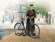 Masterbox Woman & Woman's Bicycle in Europe