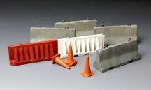 Meng Model Concrete & Plastic Barrier Set