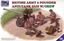 Riich Models British Army 6 Pounder Infantry Anti-tank Gun with Crew