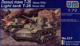 Unimodels T-26 Light Tank 1933