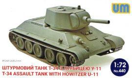 Unimodels T-34 Assault tank with howitzer U-11