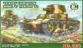 Unimodels Vickers light tank model E, version F