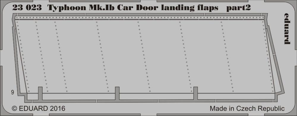Eduard Typhoon Mk. Ib Car Door landing flaps (Airfix)