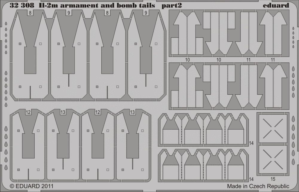 Eduard Il-2m two seater armament and bomb tails (Hobby Boss)