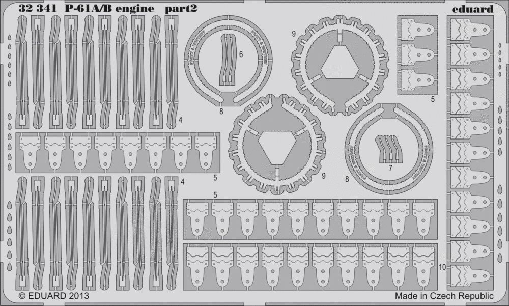Eduard P-61A/B engine (Hobby Boss)