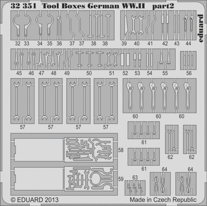 Eduard Bf 109 tools and boxes