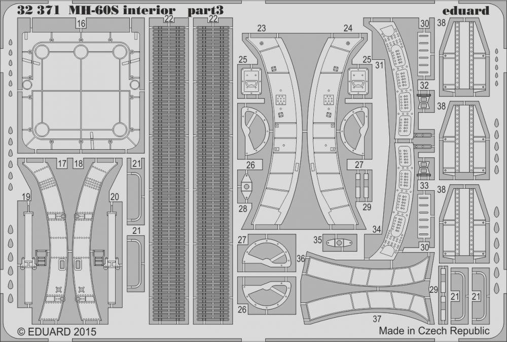 Eduard MH-60S interior (Academy)