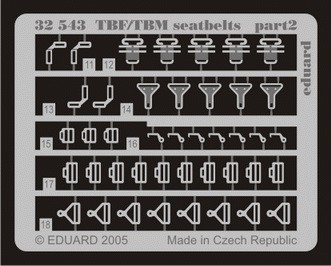 Eduard TBF/TBM seatbelts (Trumpeter)
