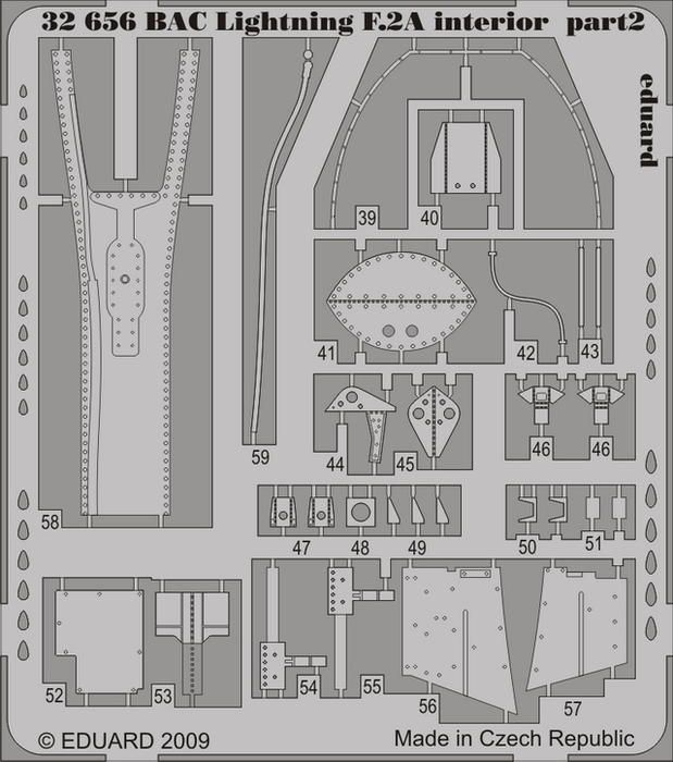 Eduard BAC Lightning F.2A interior S.A. (Trumpeter)