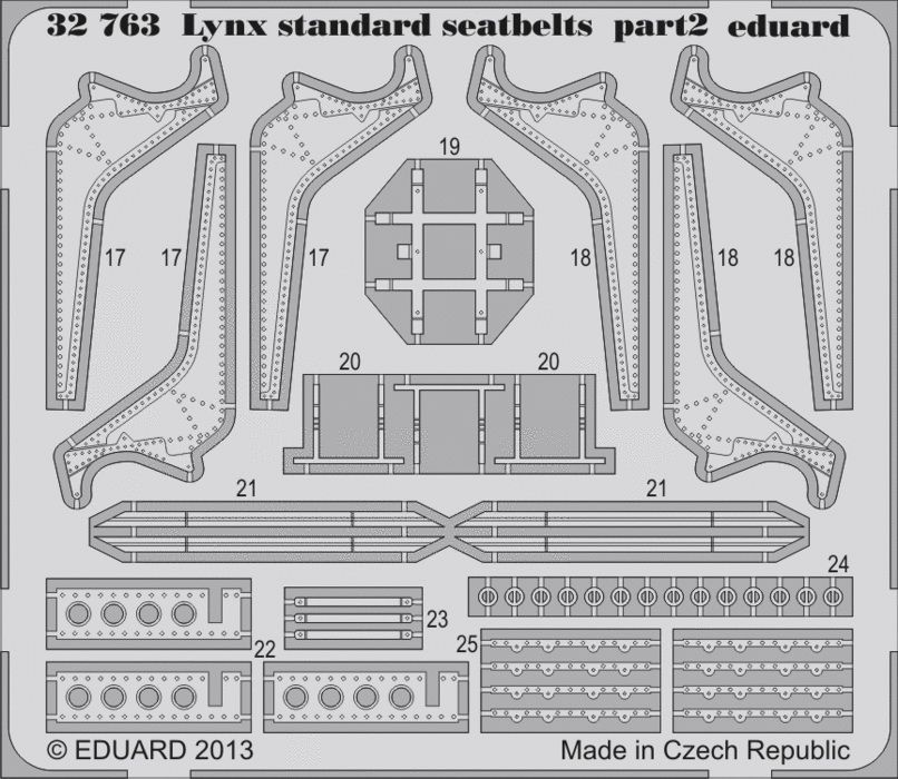 Eduard Lynx Mk.88 seatbelts (Revell)