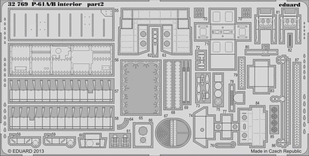 Eduard P-61A/B interior S.A. (Hobby Boss)