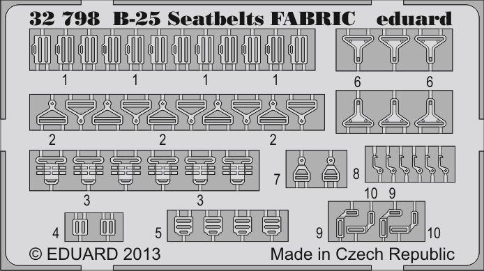 Eduard B-25 seatbelts FABRIC (Hong Kong Models)