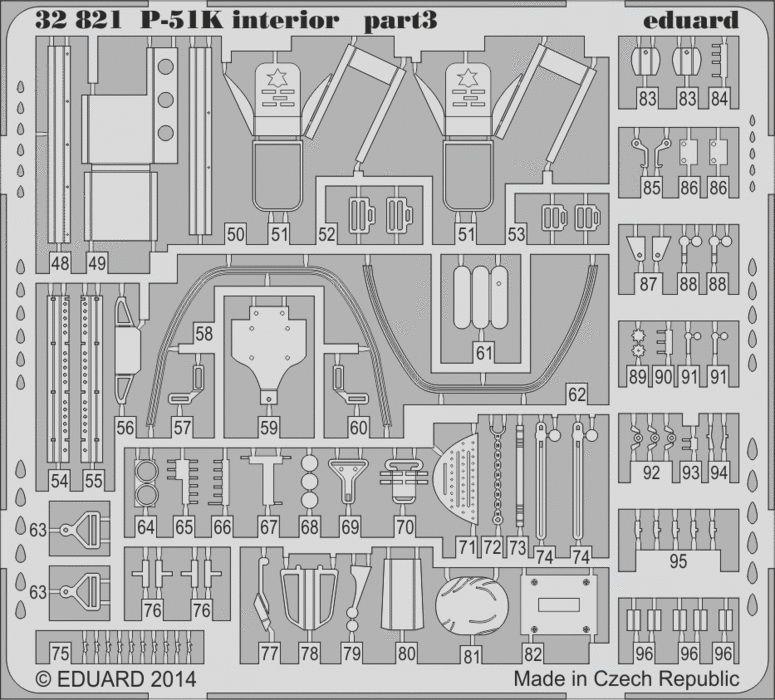 Eduard P-51K interior S.A. (Dragon)