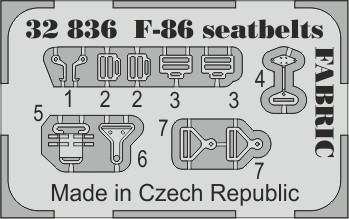 Eduard F-86 seatbelts FABRIC (Kitty Hawk)