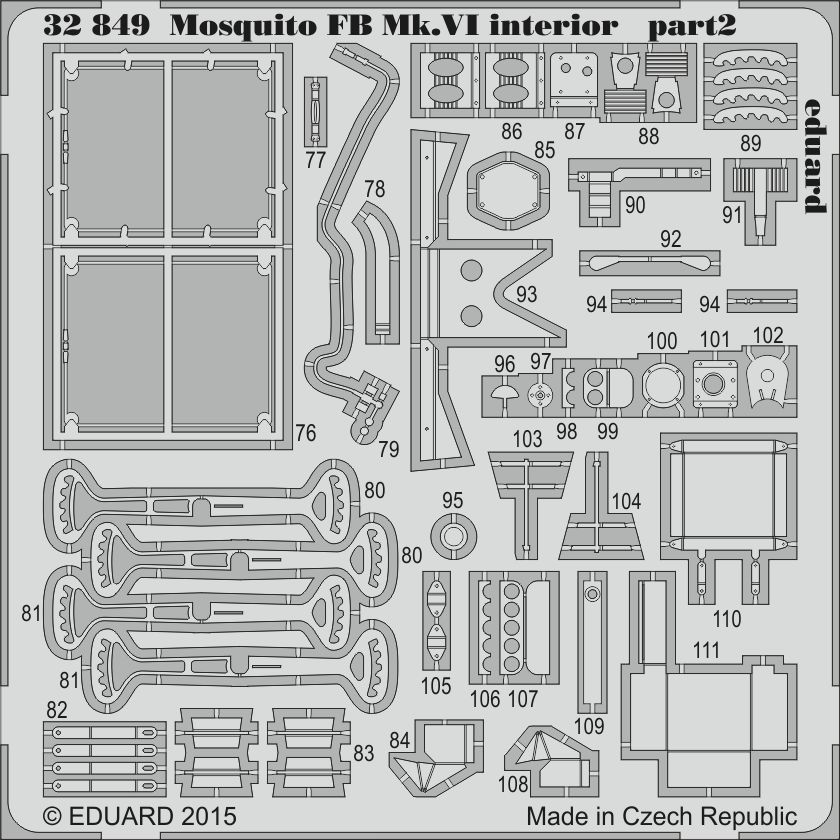 Eduard Mosquito FB Mk.VI interior (Tamiya)
