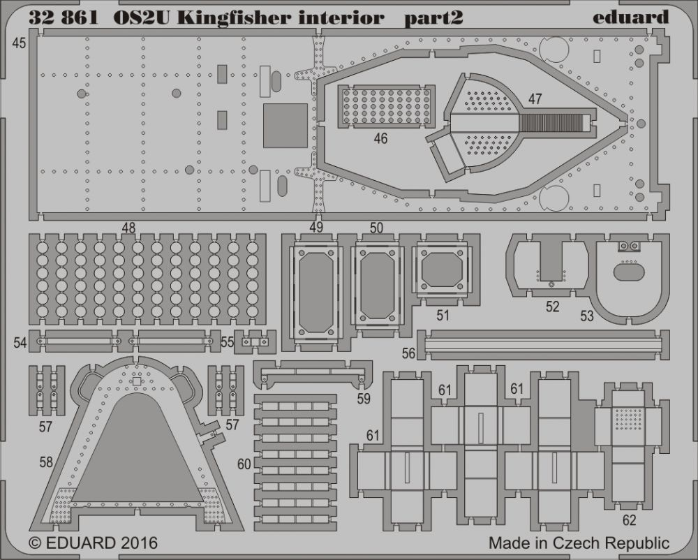 Eduard OS2U Kingfisher interior (Kitty Hawk)