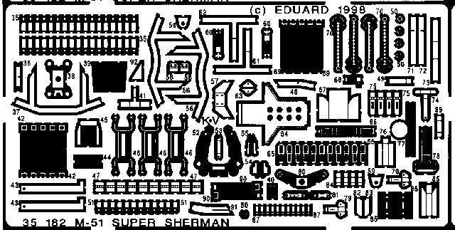 Eduard M-51 Super Sherman (Academy)