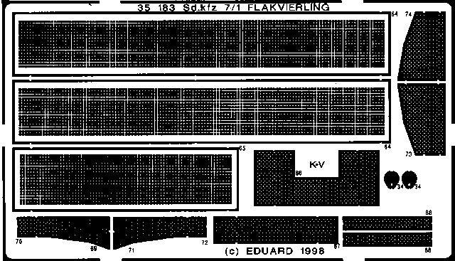 Eduard Sd.Kfz.7/1 Flakvierling (Tamiya)