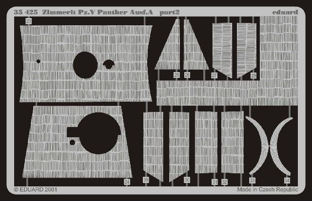 Eduard Zimmerit Panther Ausf.A (Tamiya)