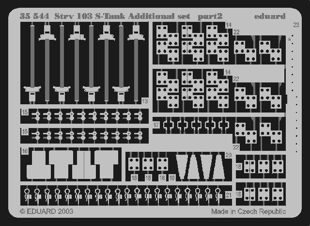Eduard Strv.103 S-Tank additional set (Trumpeter)