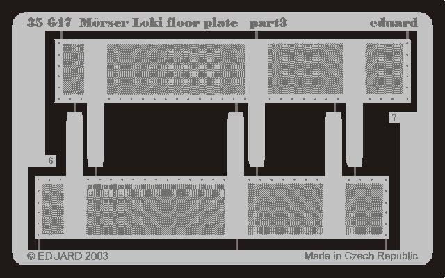 Eduard Mörser Loki floor plate (Dragon)