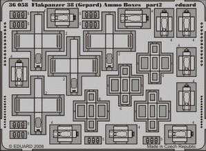 Eduard Flakpanzer 38 (Gepard) Ammo. Boxes (Italeri)
