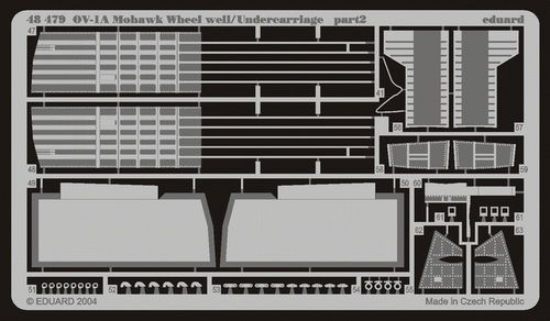 Eduard OV-1A/B/D wheel well/undercarriage (Roden)