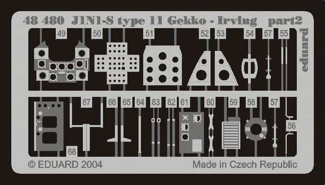 Eduard J1N1-S Gekko type 11 (Tamiya)
