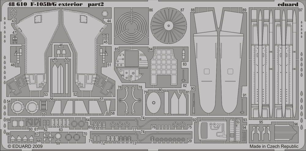 Eduard F-105D/G exterior (Hobby Boss)