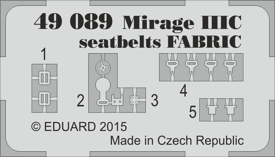 Eduard Mirage IIIC seatbelts FABRIC (Eduard)