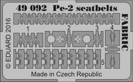 Eduard Pe-2 seatbelts FABRIC (Zvezda)