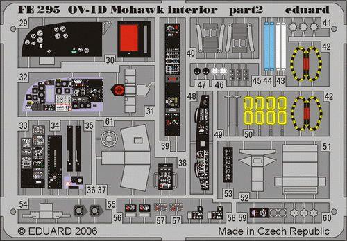 Eduard OV-1D interior (Roden)
