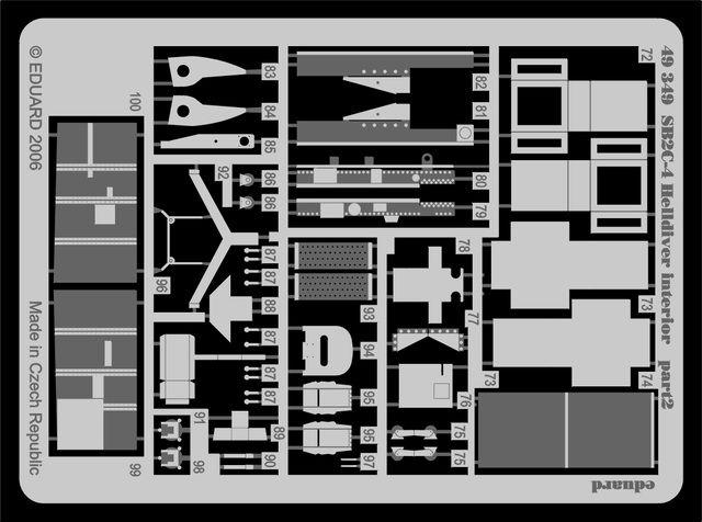 Eduard SB2C-4 interior (Revell)