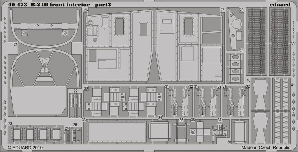 Eduard B-24D front interior (Revell)