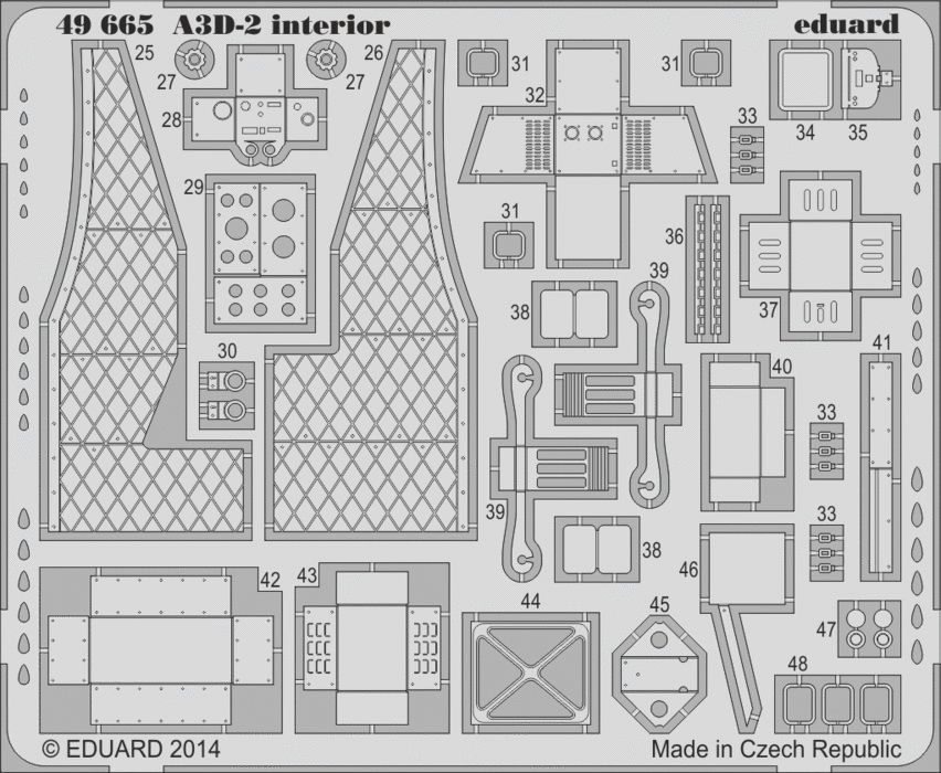 Eduard A3D-2 interior S.A. (Trumpeter)