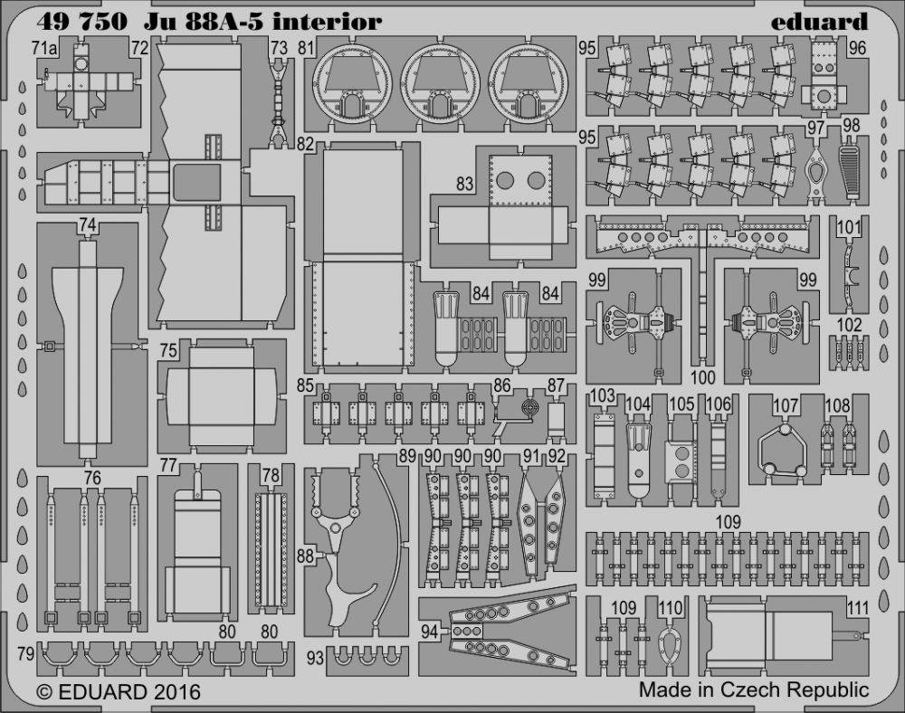 Eduard Ju 88A-5 interior (Icm)