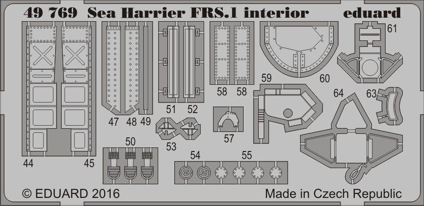 Eduard Sea Harrier FRS.1 interior (Kinetic)