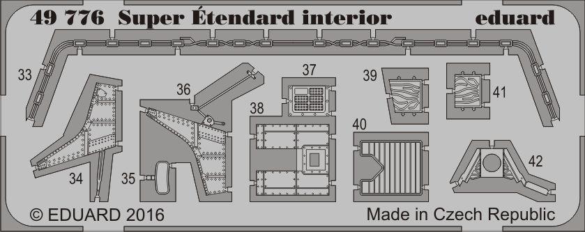 Eduard Super Étendard interior (Kinetic)