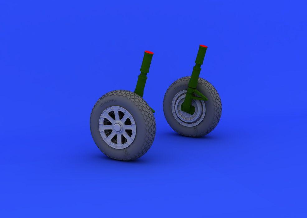 Eduard F4U-1 wheels (TAMIYA)