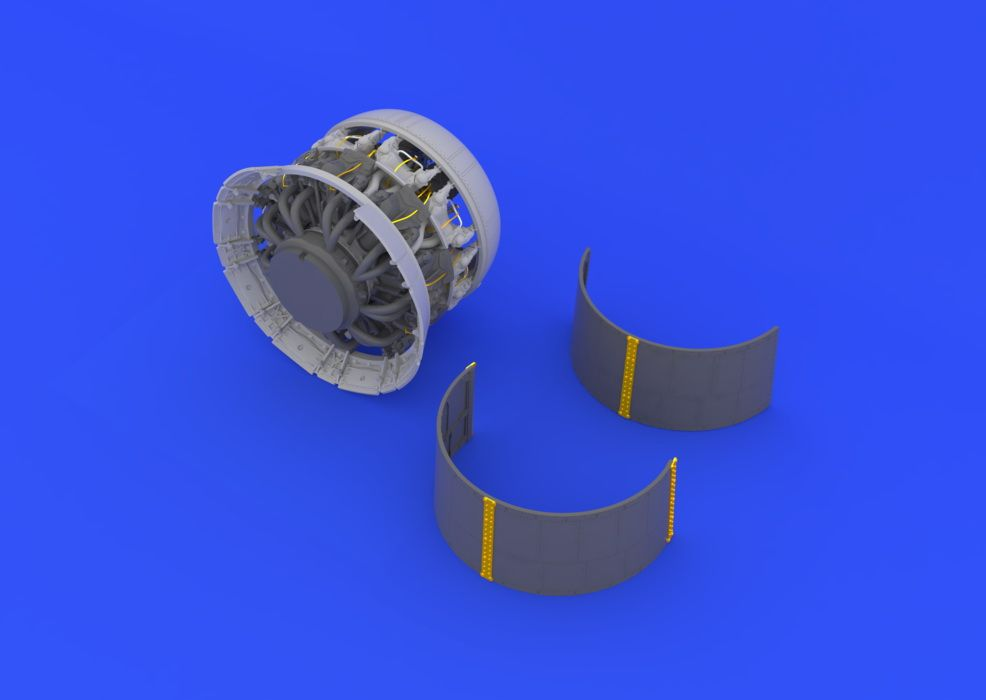 Eduard F4U-1 engine (TAMIYA)