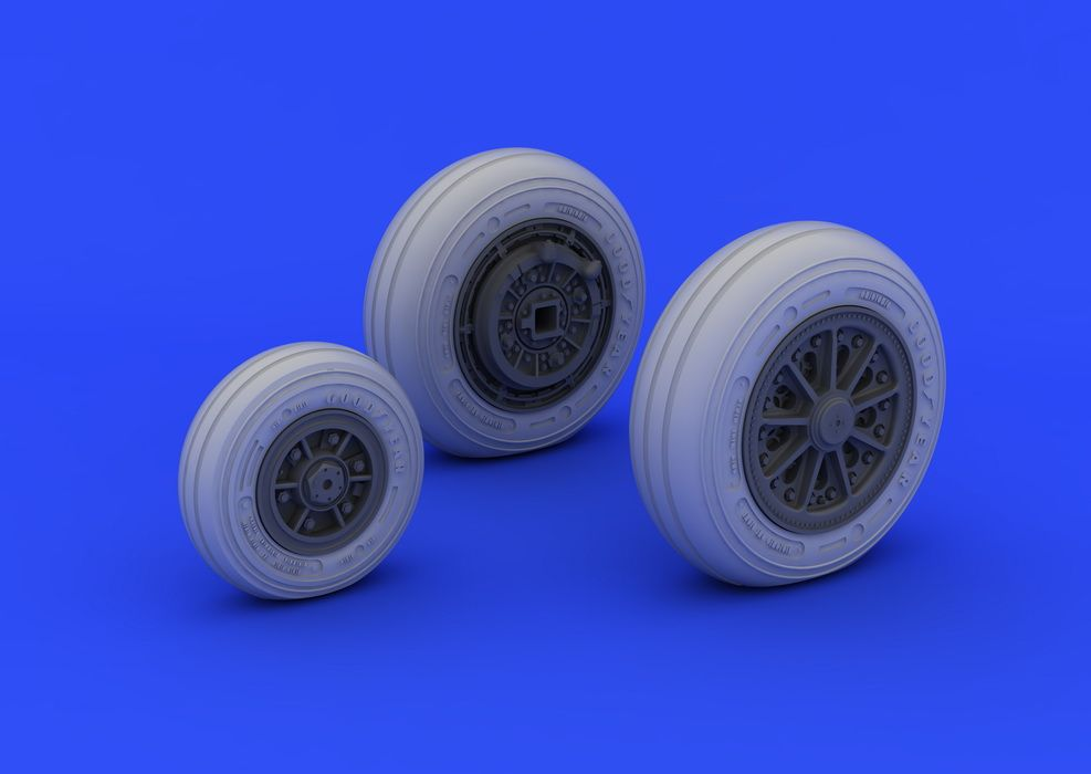 Eduard F-104 undercarriage wheels late (ITALERI)
