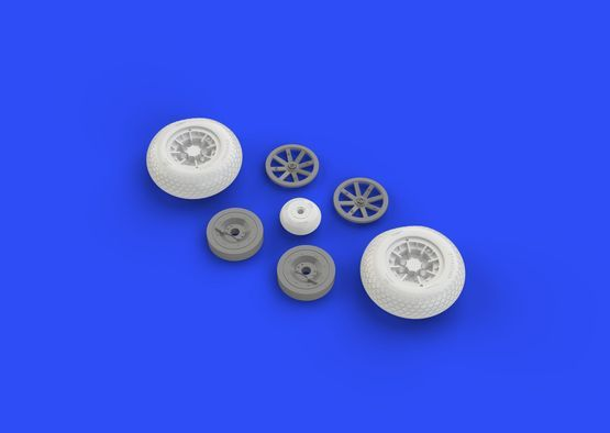 Eduard P-40 wheels w/ pattern (Hasegawa)