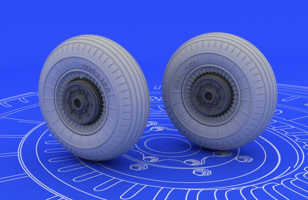 Eduard Il-2 wheels (TAMIYA)