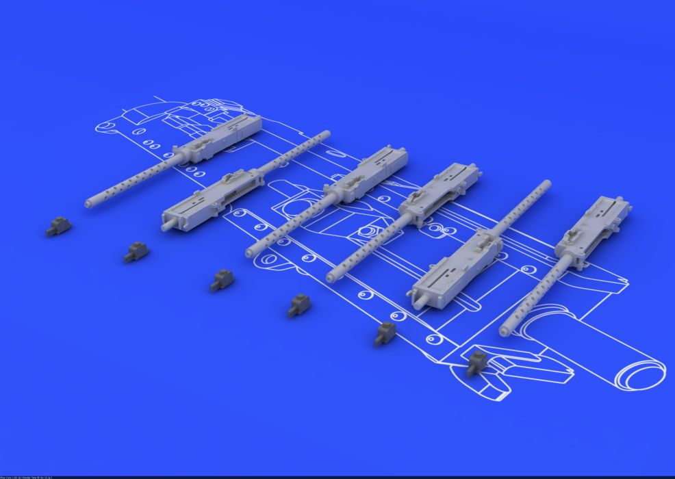 Eduard Browning M-2 guns (6pcs)